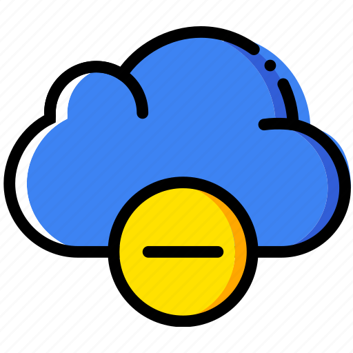 cloud, communication, interaction, interface, substract icon