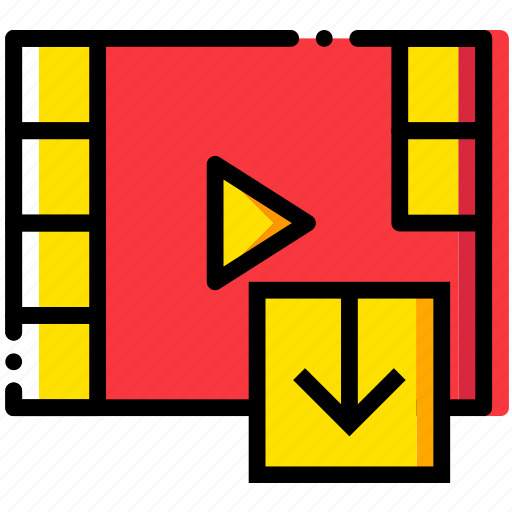 communication, download, interaction, interface, video icon