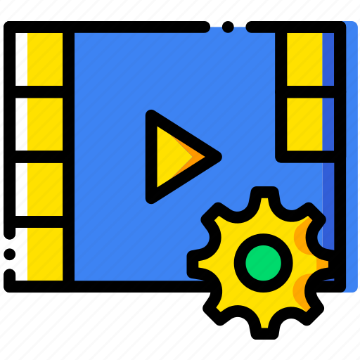 communication, interaction, interface, settings, video icon