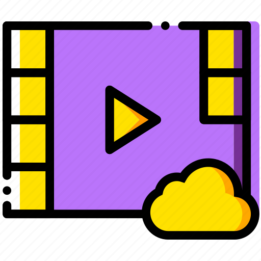 add, cloud, communication, interaction, interface, to, video icon