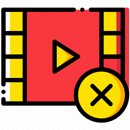 communication, delete, interaction, interface, video icon