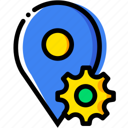 communication, interaction, interface, location, settings icon