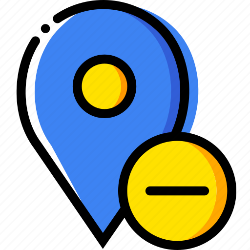 communication, interaction, interface, location, substract icon