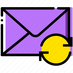 communication, interaction, interface, mail, sync icon