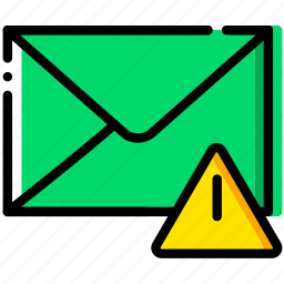 communication, interaction, interface, mail, warning icon