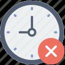 clock, communication, delete, interaction, interface