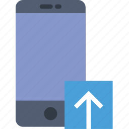 communication, interaction, interface, smartphone, upload icon