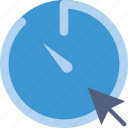 click, communication, interaction, interface, stopwatch icon
