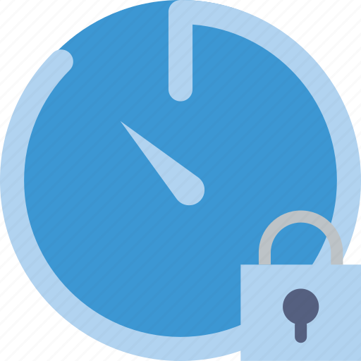 communication, interaction, interface, lock, stopwatch icon