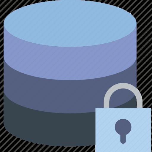communication, database, interaction, interface, lock icon