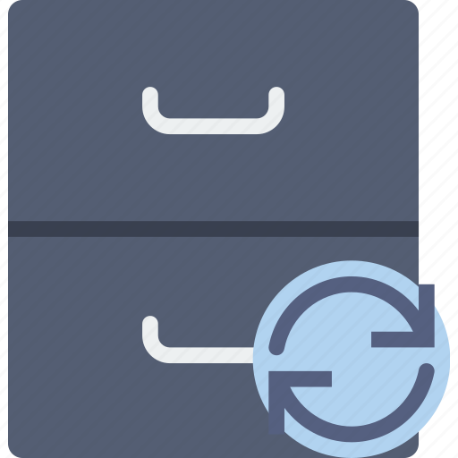 archive, communication, interaction, interface, sync icon