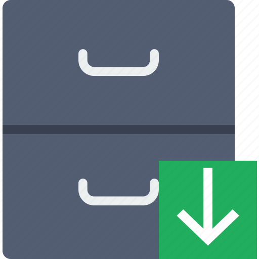 archive, communication, download, interaction, interface icon