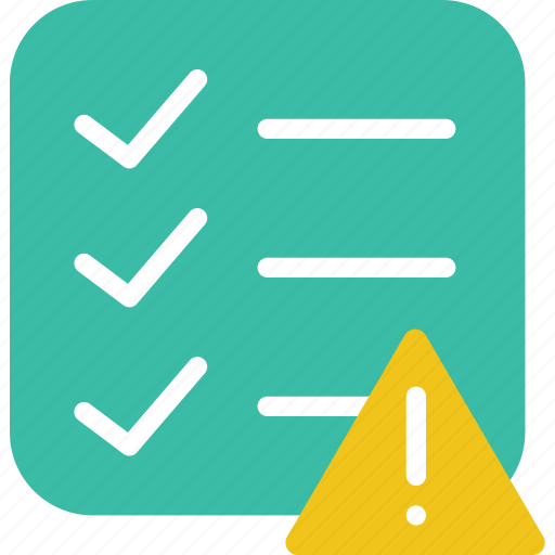 communication, do, interaction, interface, list, to, warning icon