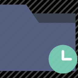 communication, folder, for, interaction, interface, wait icon