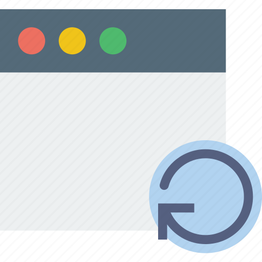 communication, interaction, interface, refresh, window icon