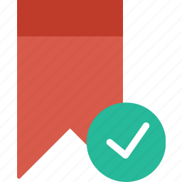 bookmark, communication, interaction, interface, success icon