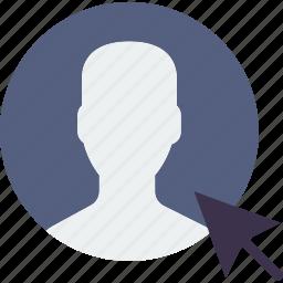 click, communication, interaction, interface, profile icon