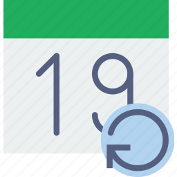calendar, communication, interaction, interface, refresh icon