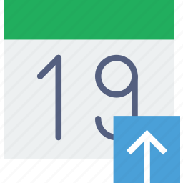calendar, communication, interaction, interface, upload icon
