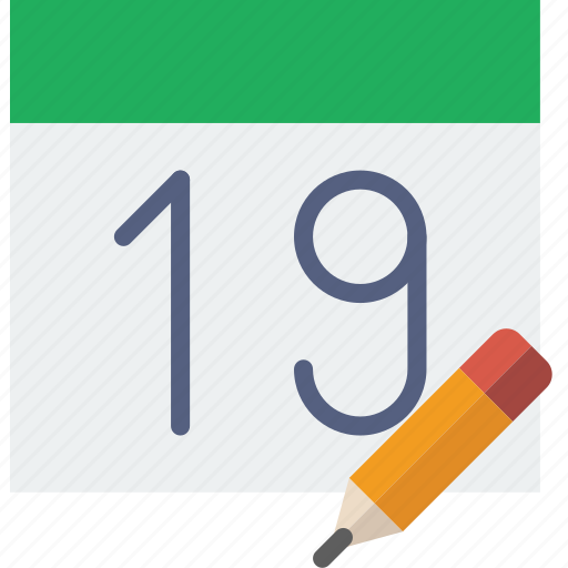 calendar, communication, edit, interaction, interface icon