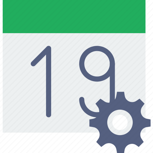 calendar, communication, interaction, interface, settings icon