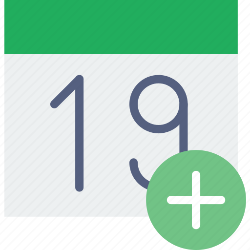 add, calendar, communication, interaction, interface icon