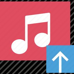 album, communication, interaction, interface, upload icon