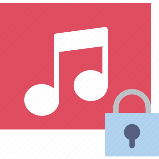 album, communication, interaction, interface, lock icon