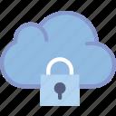 cloud, communication, interaction, interface, lock