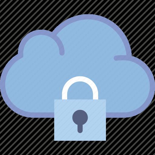 cloud, communication, interaction, interface, lock icon