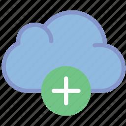 add, cloud, communication, interaction, interface icon
