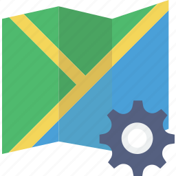 communication, interaction, interface, map, settings icon