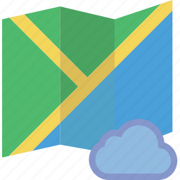 add, cloud, communication, interaction, interface, map, to icon