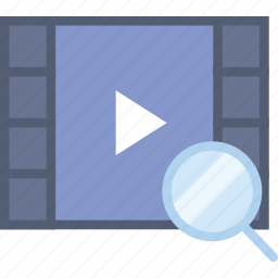 communication, interaction, interface, search, video icon