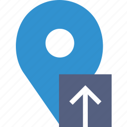 communication, interaction, interface, location, upload icon