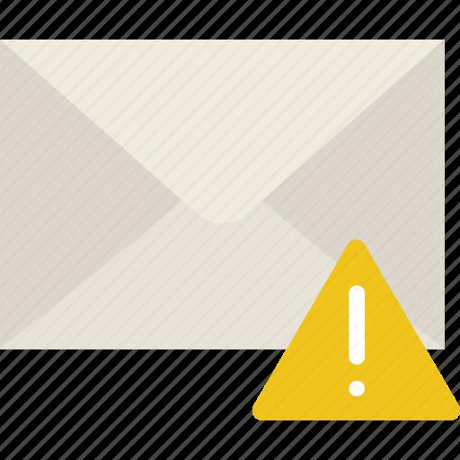 communication, interaction, interface, mail, warning icon