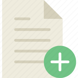 add, communication, file, interaction, interface icon