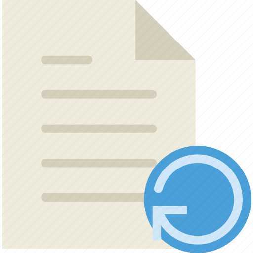 communication, file, interaction, interface, refresh icon