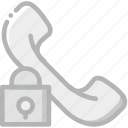 interface, communication, interaction, phonecall, lock icon