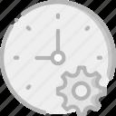 interface, communication, interaction, clock, settings icon