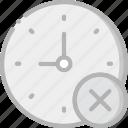 interface, communication, interaction, clock, delete icon