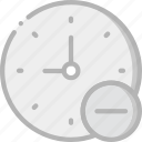 interface, communication, interaction, substract, clock icon