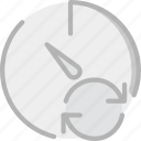 interface, communication, interaction, sync, stopwatch icon
