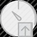 interface, communication, interaction, upload, stopwatch icon