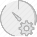 interface, communication, interaction, settings, stopwatch icon