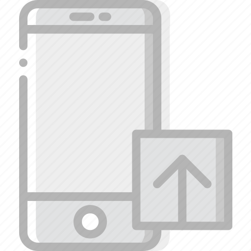 communication, interaction, interface, smartphone, upload icon