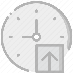 clock, communication, interaction, interface, upload icon