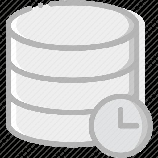 communication, database, for, interaction, interface, wait icon
