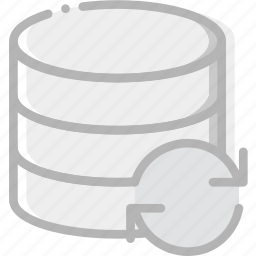 communication, database, interaction, interface, sync icon