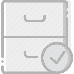 archive, communication, interaction, interface, success icon